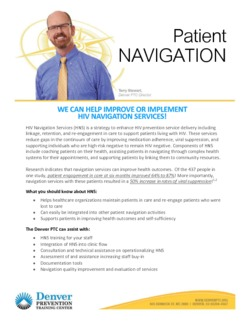 DPTC HIV Navigation Services Fact Sheet