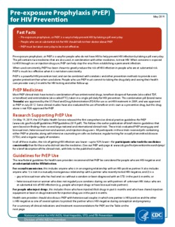 CDC PrEP fact sheet