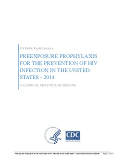 CDC PrEP Guidelines 2014