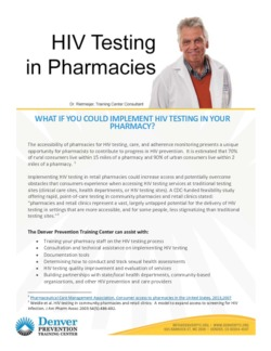 DPTC HIV Testing in Pharmacies Info Brief
