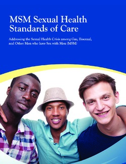 MSM Sexual Health Standards of Care