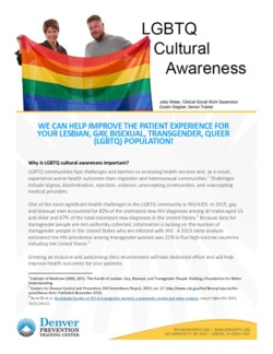 DPTC LGBT Cultural Awareness Info Brief