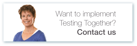 Testing together contact us button